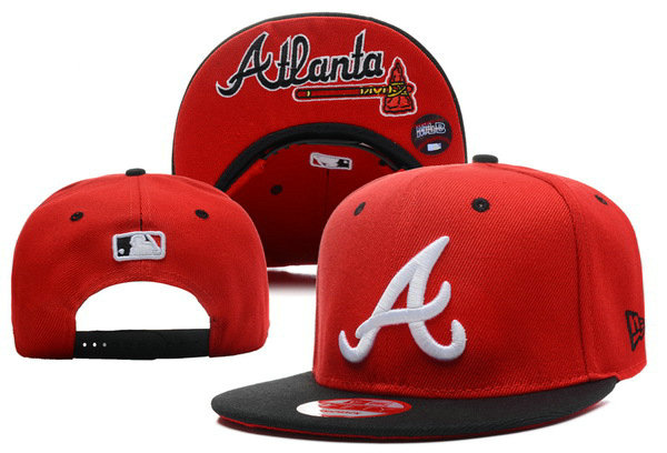 Atlanta Braves Red Snapback Hat XDF 0528
