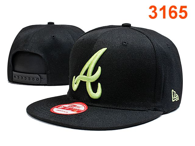 Atlanta Braves Black Snapback Hat PT 0701