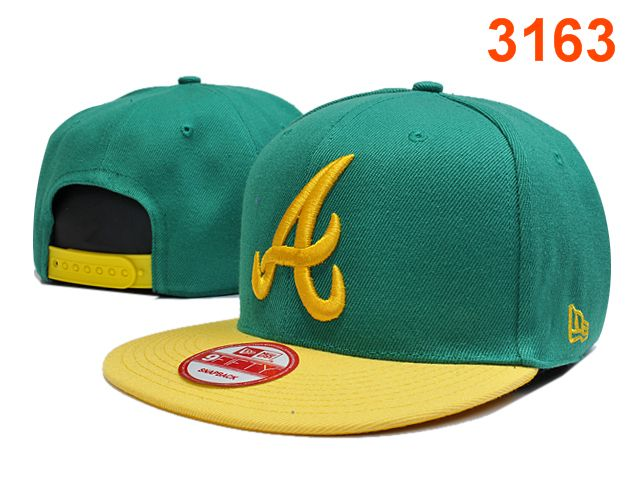 Atlanta Braves Green Snapback Hat PT 0701