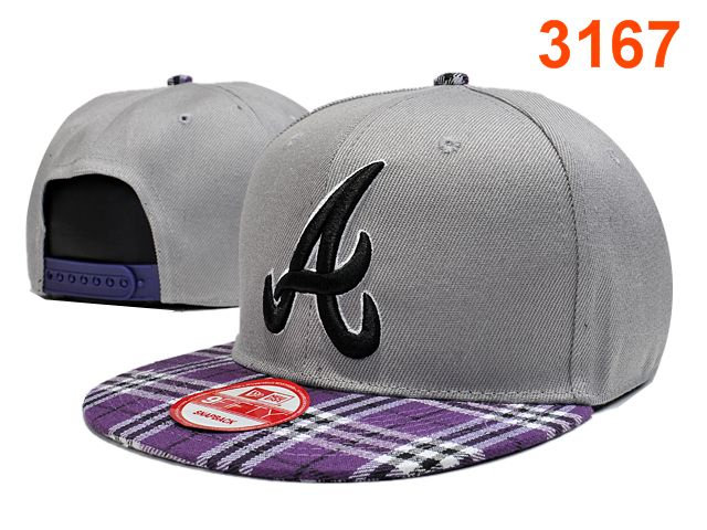 Atlanta Braves Grey Snapback Hat PT 0701