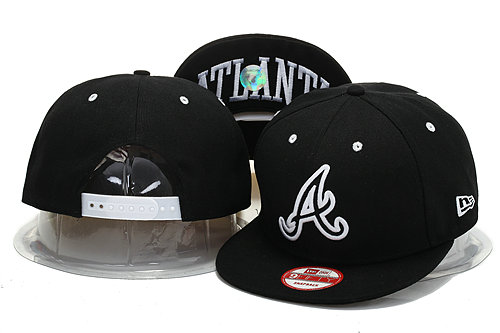 Atlanta Braves Black Snapback Hat YS 0721