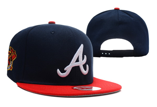 Atlanta Braves Snapback Hat XDF 140802-05