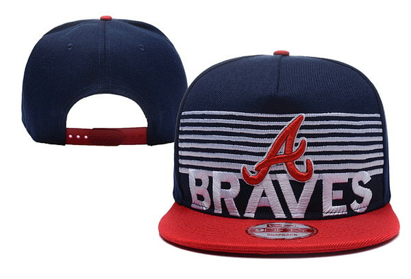 Atlanta Braves Snapback Navy Hat XDF 0620