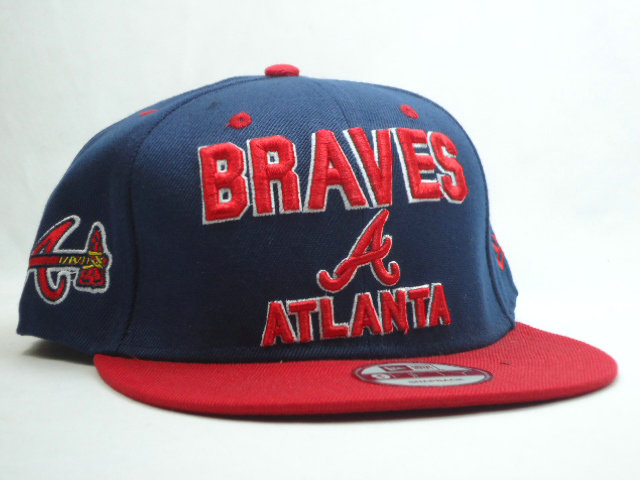 Atlanta Braves Blue Snapback Hat SF