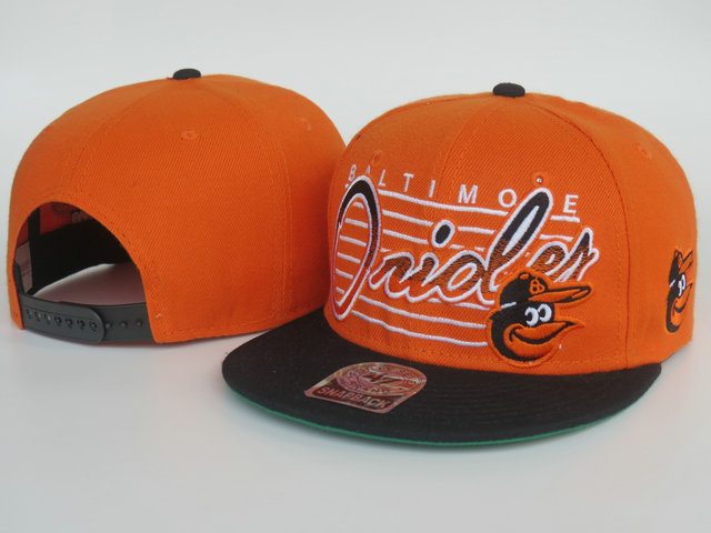 Baltimore Orioles Orange Snapback Hat LS