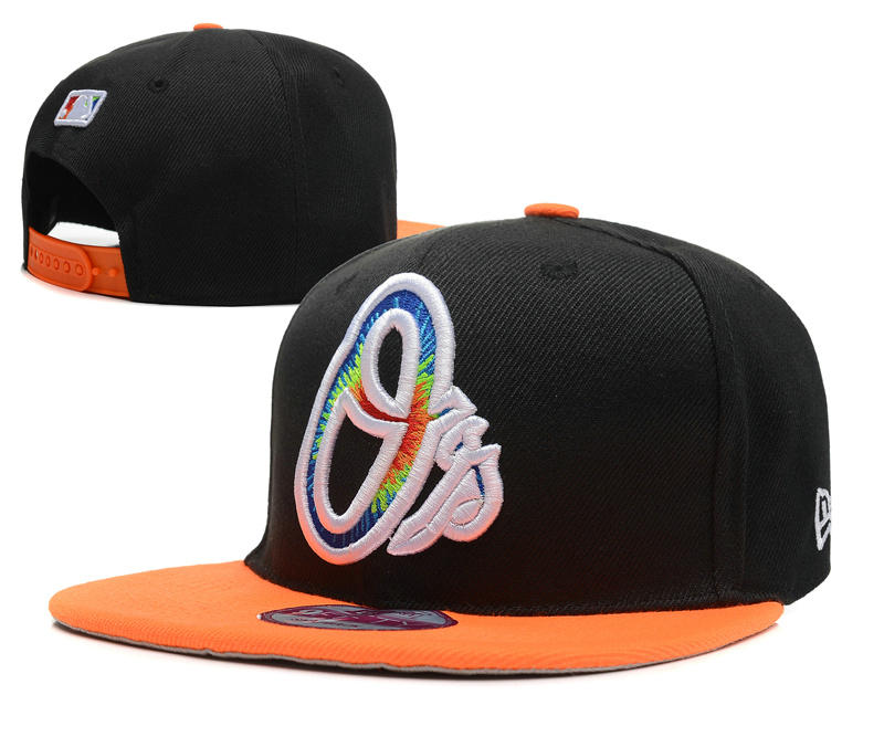Baltimore Orioles Black Snapback Hat DF