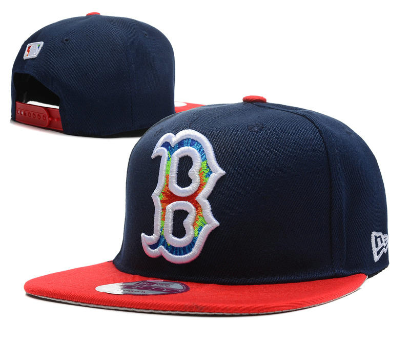 Boston Red Sox Blue Snapback Hat DF