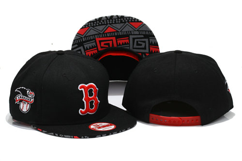 Boston Red Sox Black Snapback Hat YS