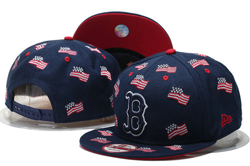 Boston Red Sox Snapback Navy Hat GS 0620