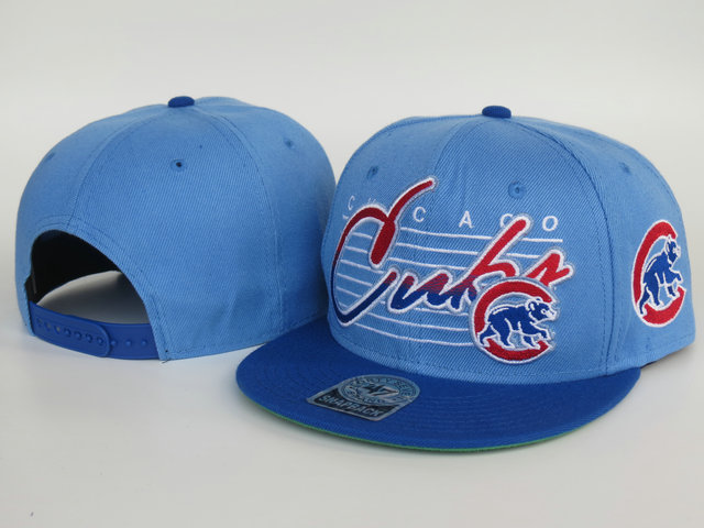 Chicago Cubs Blue Snapback Hat LS