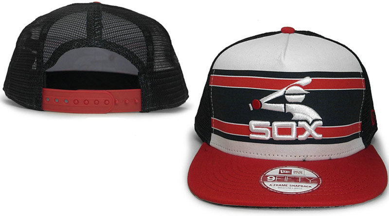 Chicago White Sox Mesh Snapback Hat GF 0721