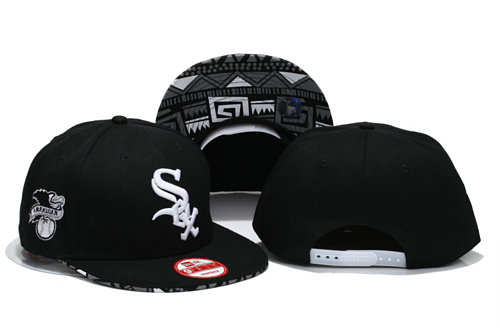 Chicago White Sox Black Snapback Hat YS 1