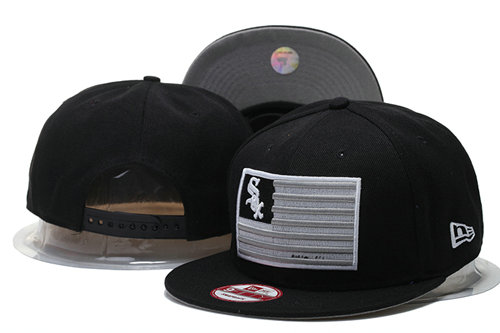 Chicago White Sox Snapback Black Hat 3 GS 0620