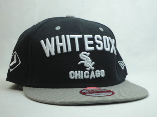 Chicago White Sox Black Snapback Hat SF