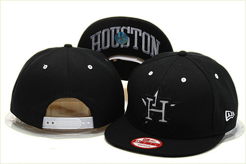 Houston Astros Black Snapback Hat YS 0721