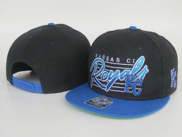 Kansas City Royals Black Snapback Hat LS