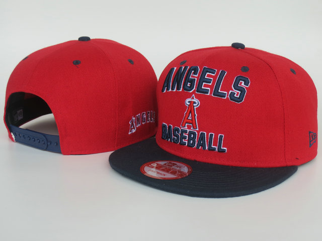 Los Angeles Angels Red Snapback Hat LS