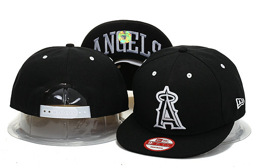 Los Angeles Angels Black Snapback Hat YS 0721