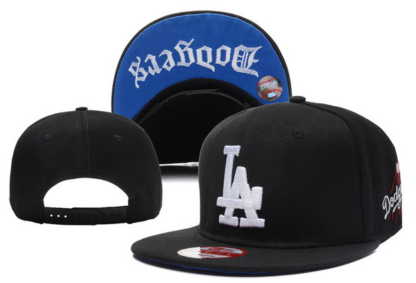 Los Angeles Dodgers Black Snapback Hat XDF 1
