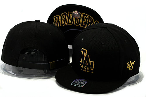 Los Angeles Dodgers Black Snapback Hat YS 0528