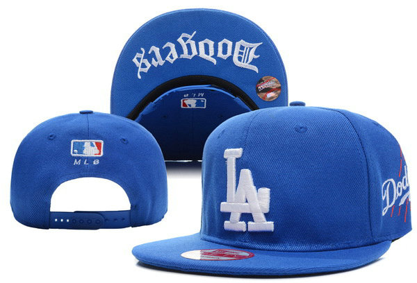 Los Angeles Dodgers Blue Snapback Hat XDF 1