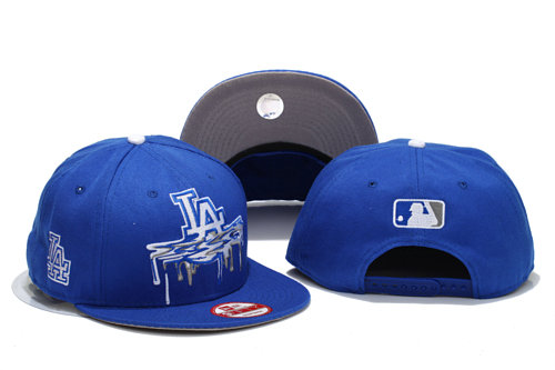 Los Angeles Dodgers Blue Snapback Hat YS 1