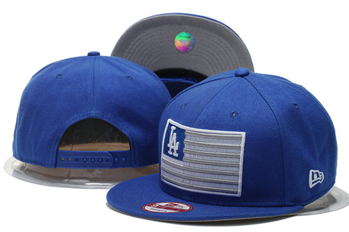 Los Angeles Dodgers Snapback Blue Hat GS 0620