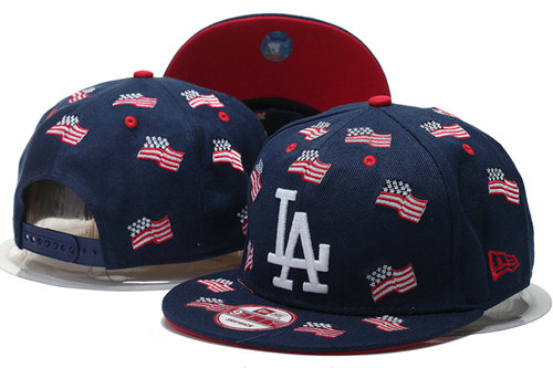 Los Angeles Dodgers Snapback Navy Hat GS 0620