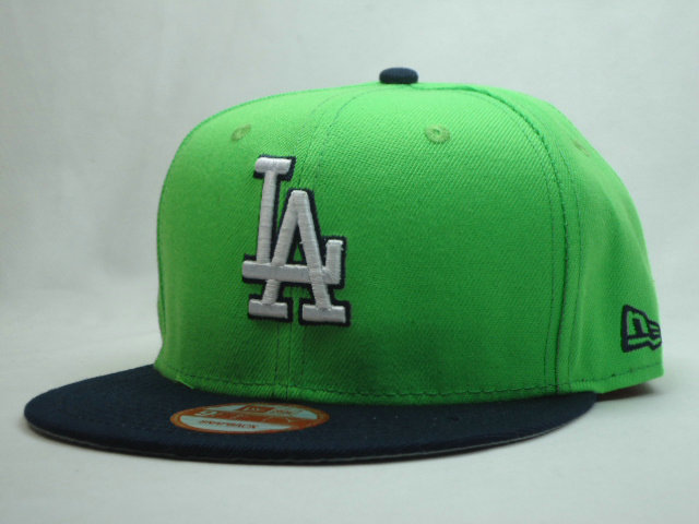 Los Angeles Dodgers Green Snapback Hat SF