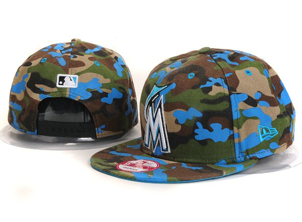 Miami Marlins Snapback Hat YS 7606