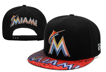 Miami Marlins Snapback Hat XDF 14082 03