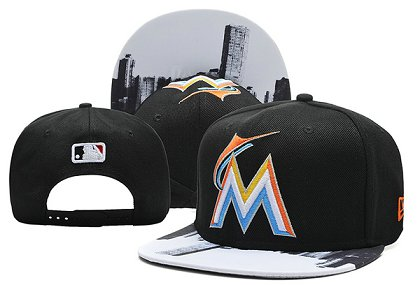 Miami Marlins Snapback Hat 0903