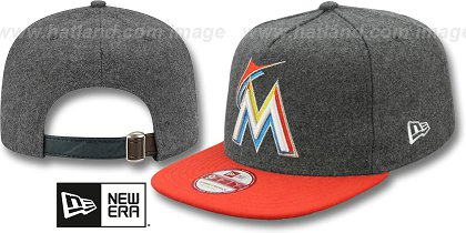 Miami Marlins-Melton Snapback Hat SF 12