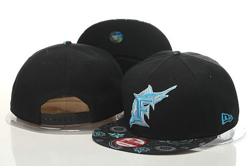 Miami Marlins Snapback Black Hat GS 0620