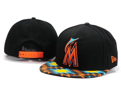 Miami Marlins MLB Snapback Hat YX079