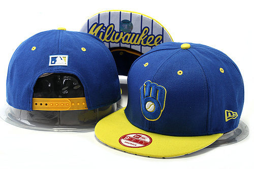 Milwaukee Brewers Blue Snapback Hat YS 0528