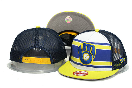 Milwaukee Brewers Mesh Snapback Hat YS 0613