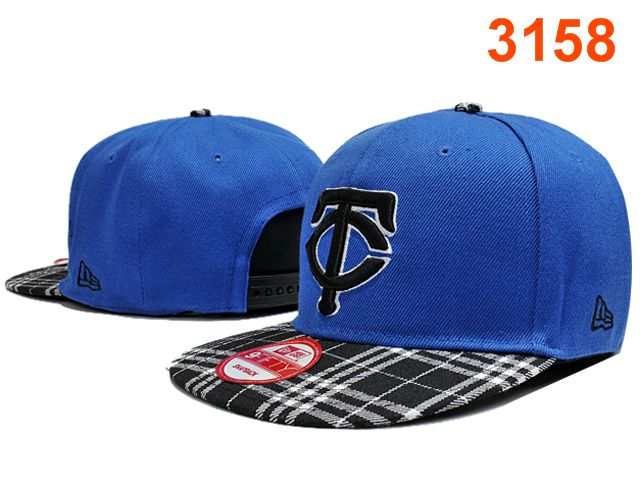 Minnesota Twins Blue Snapback Hat PT 0701