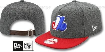 Montreal Expos-Melton Snapback Hat SF 12
