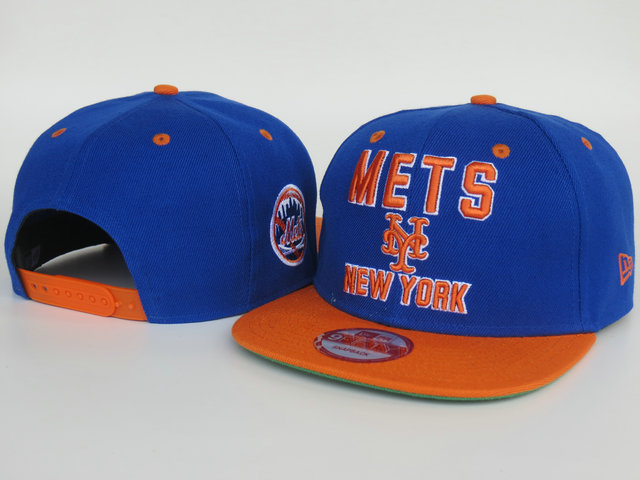 New York Mets Blue Snapback Hat LS