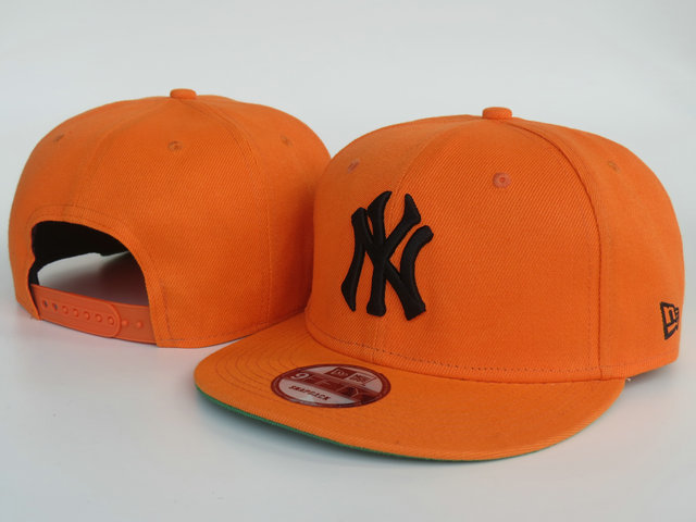 New York Yankees Orange Snapback Hat LS