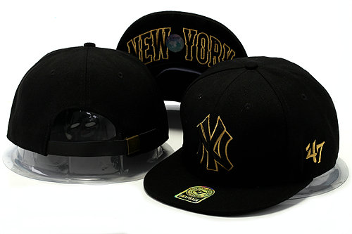 New York Yankees Black Snapback Hat YS 0528