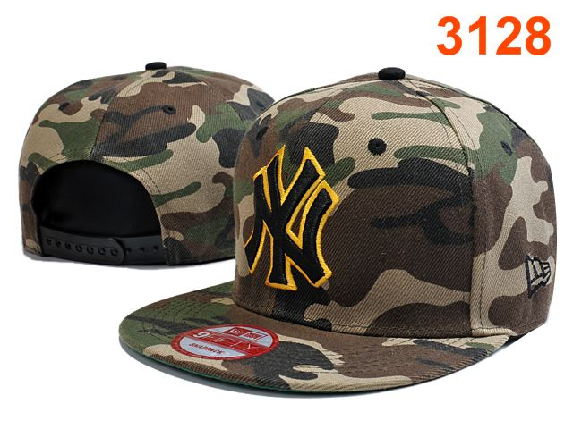 New York Yankees Camo Snapback Hat PT 0528
