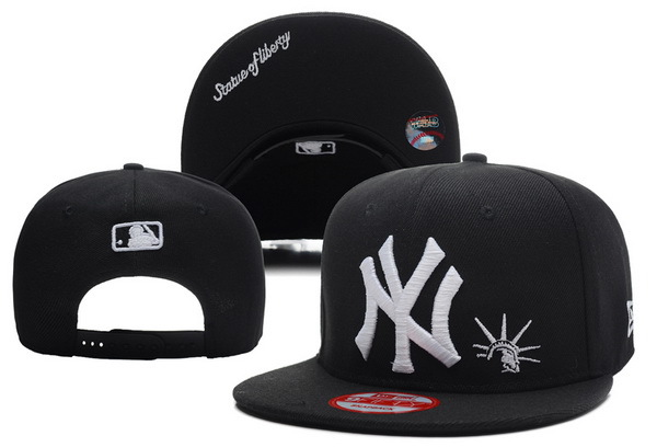 New York Yankees Black Snapback Hat XDF 0701