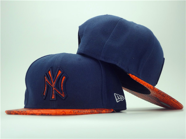 New York Yankees Navy Snapback Hat ZY 1 0701