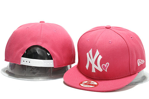 New York Yankees Pink Snapback Hat YS 0701