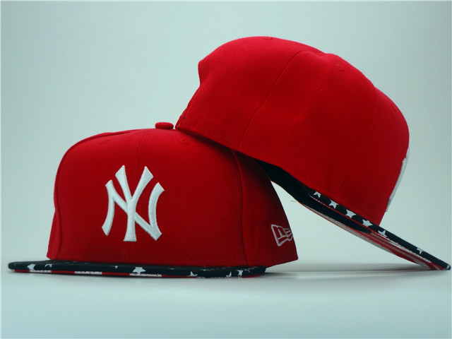 New York Yankees Red Snapback Hat ZY 0701