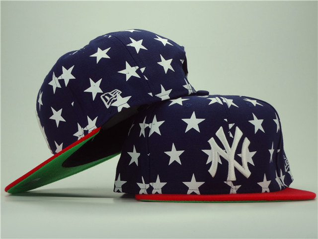 New York Yankees Star Navy Snapback Hat ZY 0701