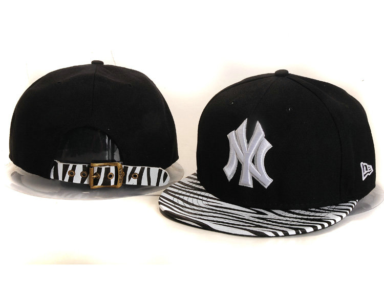New York Yankees Black Snapback Hat YS 1