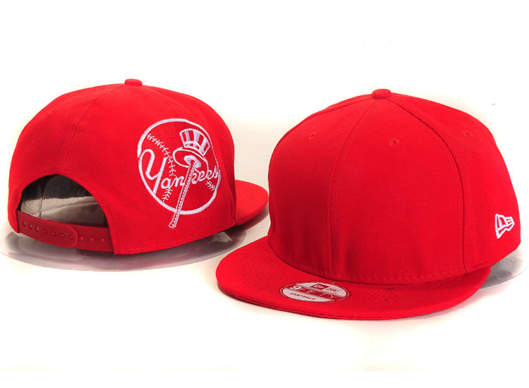 New York Yankees Red Snapback Hat YS